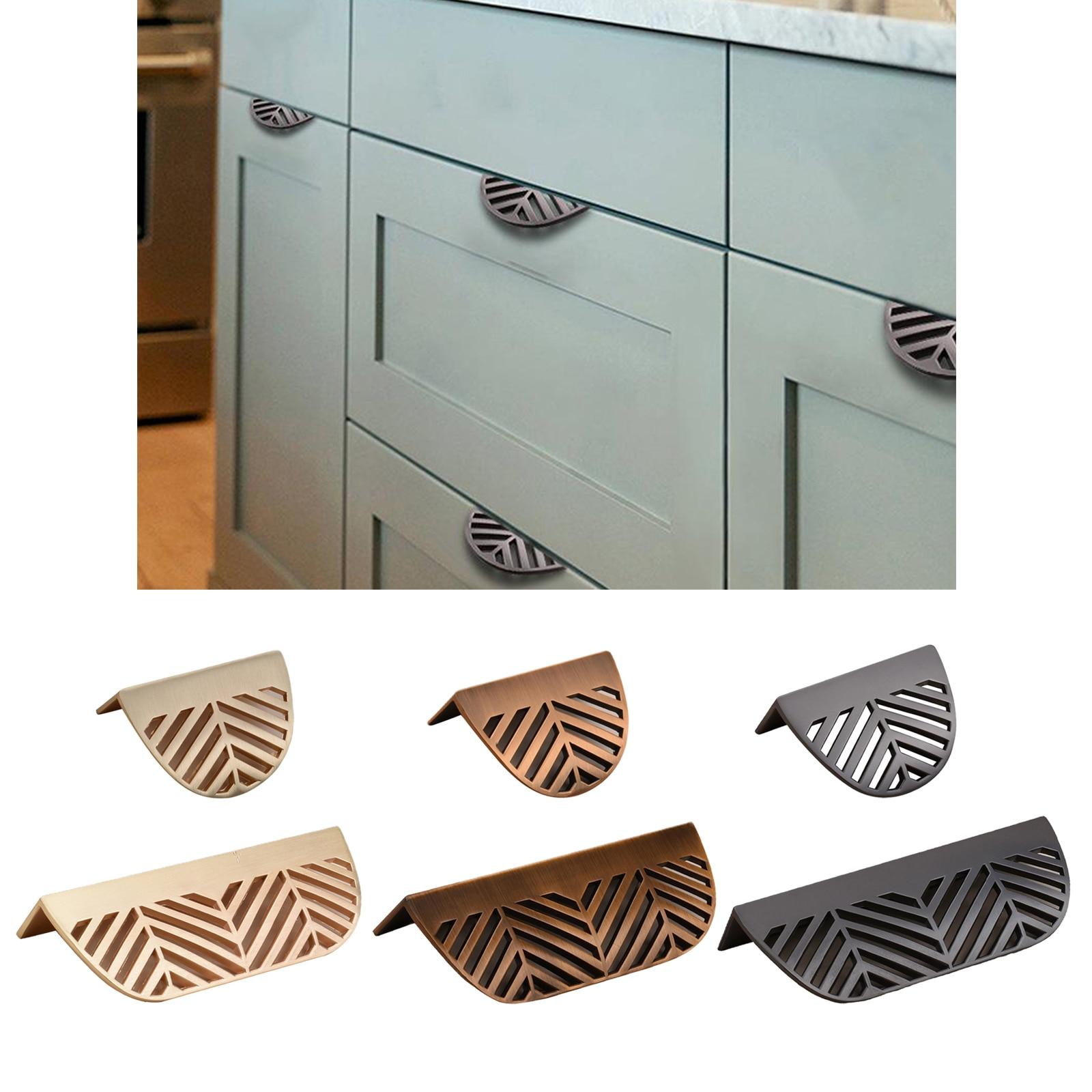 Requintado estilo vintage liga de zinco em forma de folha puxa alças nordic mobiliário doméstico puxador com parafusos de montagem