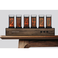 Gixie Glow Tube Clock Steampunk Heavy Metal Retro Full Color LED Color Change Creative Home Clock, Very Beautiful