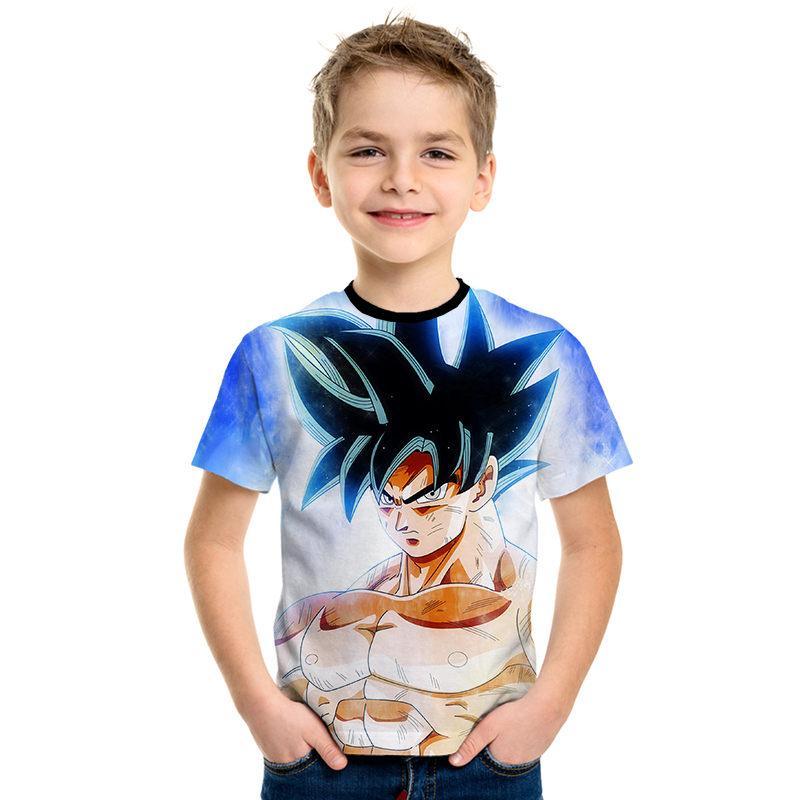 New 2019 Summer Cartoon Dragon Ball T-shirt Kids Beads Anime Children Cool Funny T Shirts Boys Girls