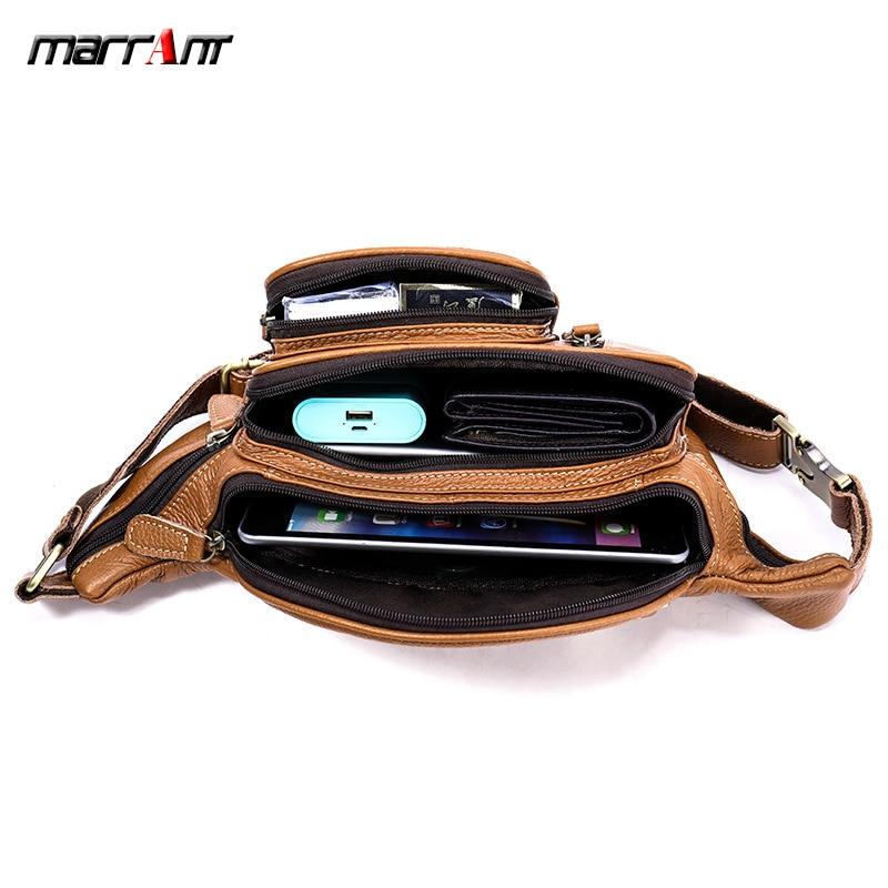 Brand Multi-functional Men's Running Bag Leather Outdoor Sports And Leisure Chest Pack Shoulder Shoulder Bag Crocodile Pattern 8