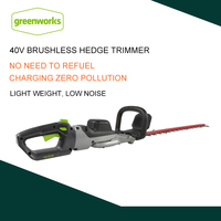 GREENWORKS 40V Lithium 350W Cordless Hedge Trimmer Lightweight Low Noise Electric Hedge Trimmer Fast Charging Pruning Saw