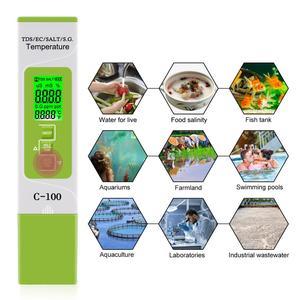 Nuovi TDS PH Meter PH/TDS/CE/Tester di Temperatura Digitale Monitorare la Qualità Dell'acqua Tester per le Piscine Potabile acquari di acqua