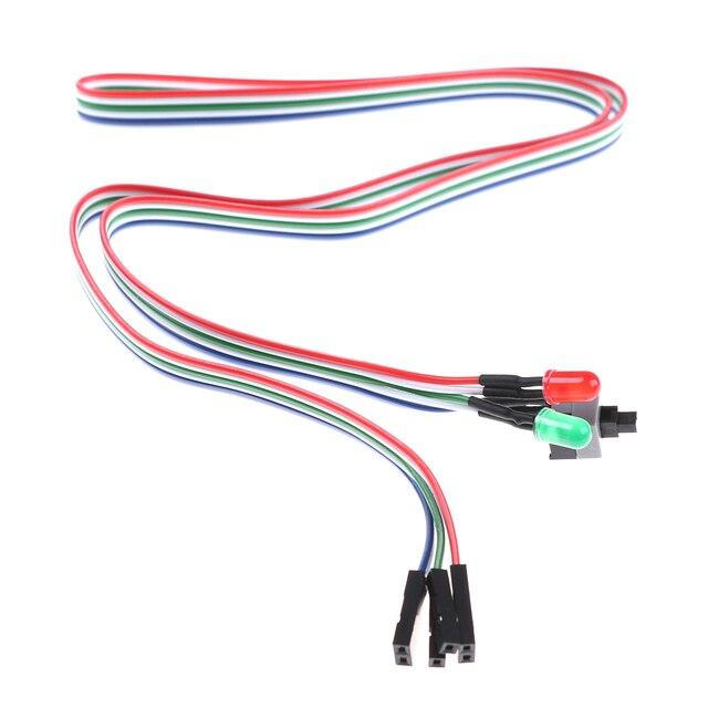 68 см Высокое качество настольного компьютера чехол блок питания ATX Мощность на возврате кабель переключателя гибкий кабель с HDD светодиодны...