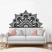 Wall Vinyl Half Mandala Decal Home Bedroom Decoration New Design Flower Wallpaper Interior Decor  AY1962