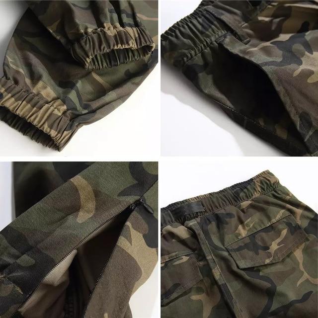 LOMAIYI Camo Joggers Men Cargo Pants Mens Military Black/Camouflage Pants Pure Cotton Men's Cargo Trousers With Pockets BM305 3