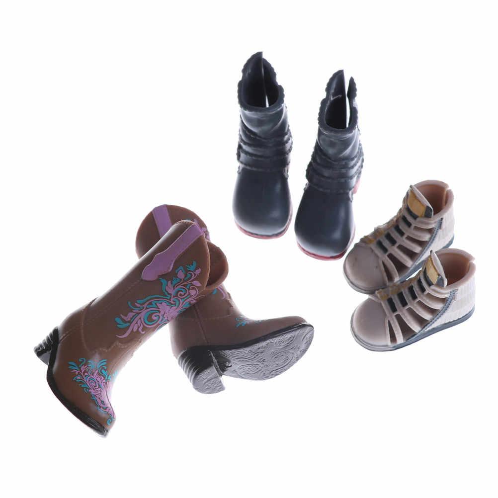 1 זוג אופנה מגפי צבעוני גבוהה עקבים נעלי מגפי חמוד DIY לבגדי אביזרי מתנות אקראי צבע וסגנונות