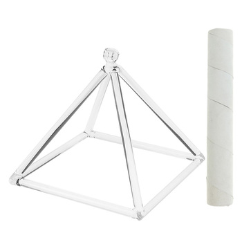 Quartz Crystal Singing Pyramid C Note Root Chakra for Relaxation Prayer 6inch+Suede Mallet High quality