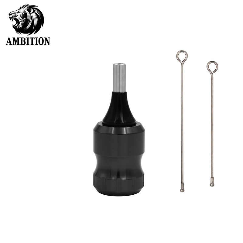 Ambition Adjustable Tattoo Grip 32mm Compatible Rotary Machines Powerful Aluminum Alloy Grip Tattoo Tube Cartridges Needlle