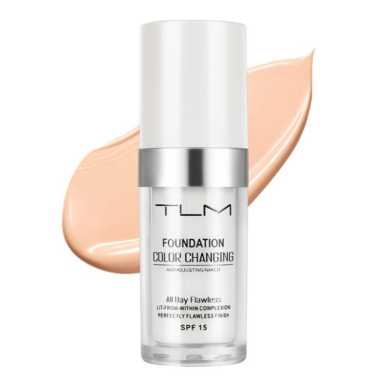 TLM 30ml Changing Foundation Profesional Colour Changing Face Makeup Waterproof Makeup Gift Skin Care Liquid Cosmetics TSLM2