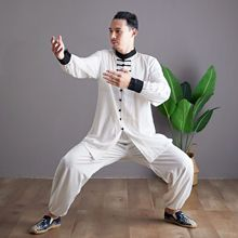 Autumn Men Yoga Set Tai Chi Kungfu Clothes Cotton Linen Chinese Traditional Loose Shirt+pant Meditation Martial Arts Uniforms autumn men yoga set tai chi kungfu clothes cotton linen chinese traditional loose shirt pant meditation martial arts uniforms