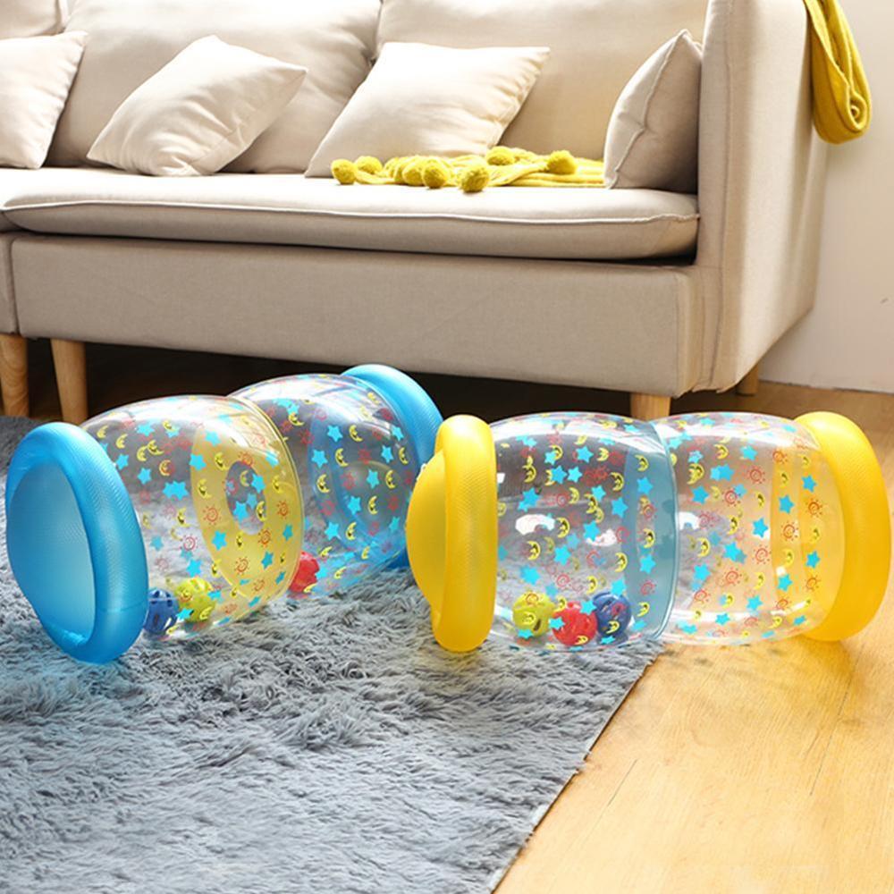 Rolo de Treinamento do bebê Engatinhando Brinquedos Bola de Rolo Inflável Crianças Brinquedo Colorido Bebê Engatinhando Brinquedo Aprendizagem Precoce Auxiliares Rolo