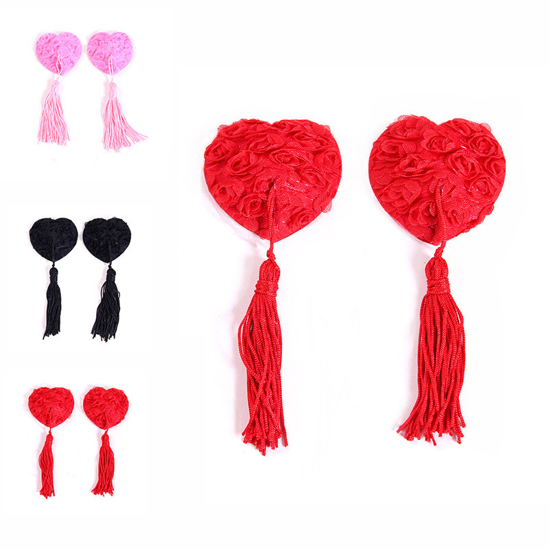 New Sex Toys For Couples Women Lingerie Silicone Tassel Breast Bra Nipple Cover Pasties Sexy Erotic Tools For Women Accessories