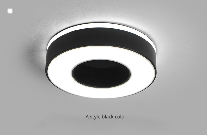 Hbfb40ea2a32f450b970cf66c2df94526Z Living Room Ceiling Lights | Drop Ceiling Lights | LED Ceiling Light Corridor Art Gallery Decoration Front Balcony Lamp Porch White Black Power 18W