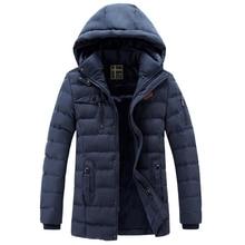 Winter Thicken Parka, Men Casual Outwear Windproof Fleece Warm Long Coat, Man Winter Jacket Mens Warm Hooded Detachable Clothes цена в Москве и Питере