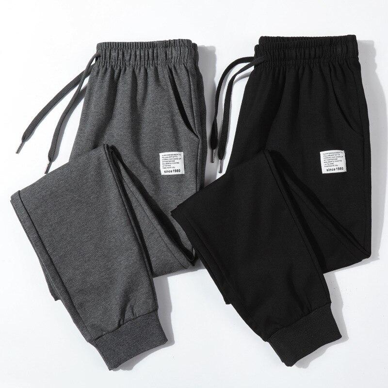 Cotton New Sweatpants Men's Streetwear Pants Fashion Pencil Pants Men Full Length Drawstring Trousers For Men Casual Pants