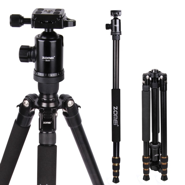 Zomei Z688 Professional Photographic Travel Compact Aluminum Heavy Duty Tripod Monopod&Ball Head For Digital DSLR Camera