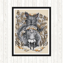 Fox Patterns DMC Cross Stitch Kit Animal Painting 11 14CT Counted Printed on Canvas DIY Hand Crafts Embroidery Kits