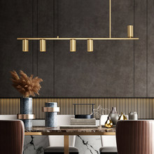 Modern Simple Led Pendant Light Golden Copper For Dining Living Room Kitchen Study Bar Office Hotel Lobby Personality Fixtures