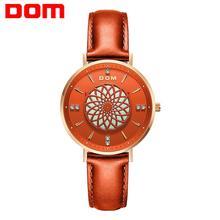 New Women Watches DOM Luxury Brand Ladies Dress Wristwatch Waterproof Leather El