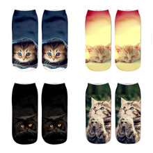 Girls Socks Animal Funny Low-Ankle Boys Children Fashion Cute for 8-16years 3d-Printing