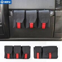MOPAI Verstauen Aufräumen Auto Copilot Griff Lagerung Tasche Accessrioes für Jeep Wrangler JK JL TJ 1997 + für Jeep Gladiator JT 2018 +