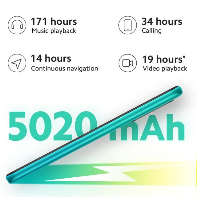 "In stock Global Version Redmi 9 4GB 64GB Smartphone Octa-core Media Tek Helio G80 13 MP Rear camera 5020 mAh Redmi9 Type-c 6.53"""