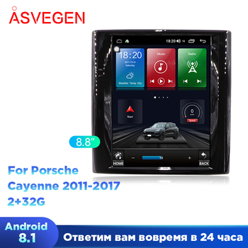 2011-2017 For Porsche Cayenne 8.8 inch Tesla Vertical Screen Android 8.1 With 2G RAM 32GB ROM Car Radio GPS Navigation