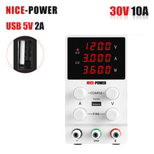Nice-power lab ajustável dc fonte de alimentação 30v 10a led digital banco fonte de alimentação regulador de tensão estabilizado powersupply