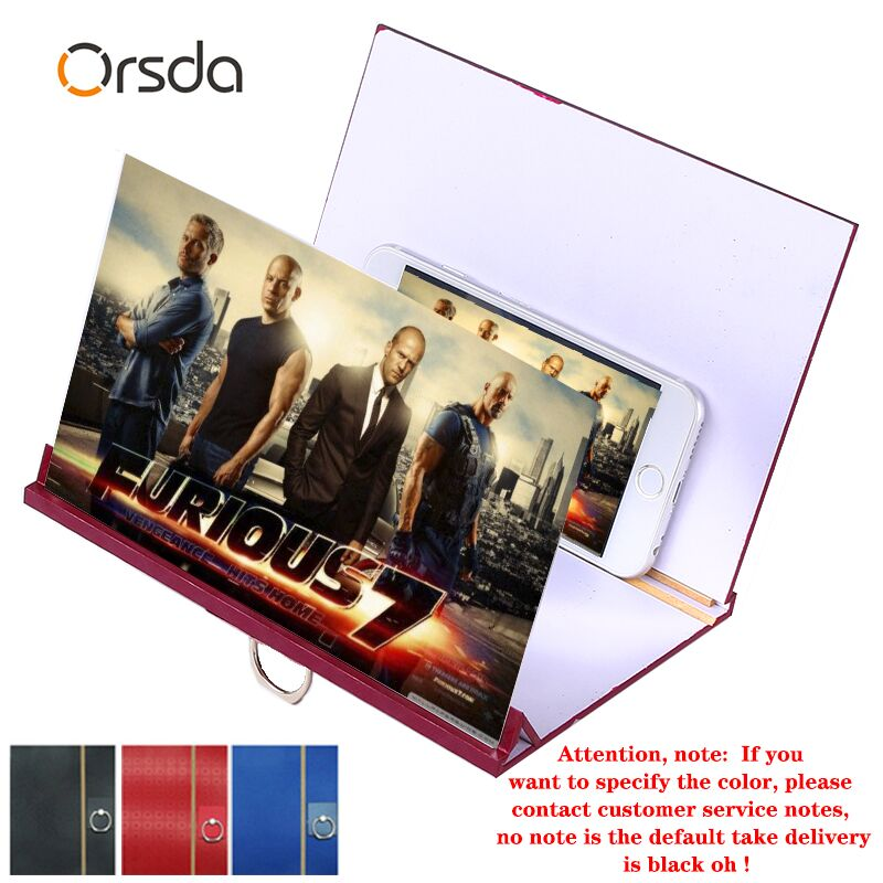 Orsda Screen Amplifier 3D HD Wooden 3D Mobile Phone Screen Amplifier Phone Screen  Applicable Mobile Apple Samsung Huawei Xiaomi