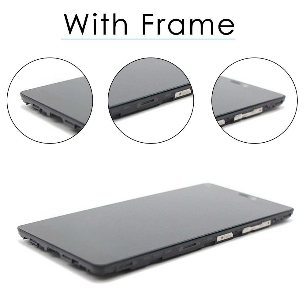 "Orijinal 5.0 ""LCD için XIAOMI Mi 4C LCD ekran dokunmatik ekran için çerçeve ile XIAOMI Mi4C LCD dokunmatik ekran digitizer meclisi"