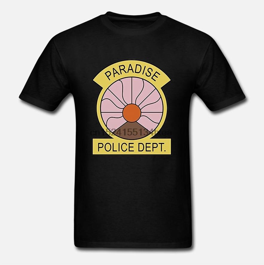 Insignia del Departamento de Policía no oficial de la PD Paraíso, camiseta de adultos para TV