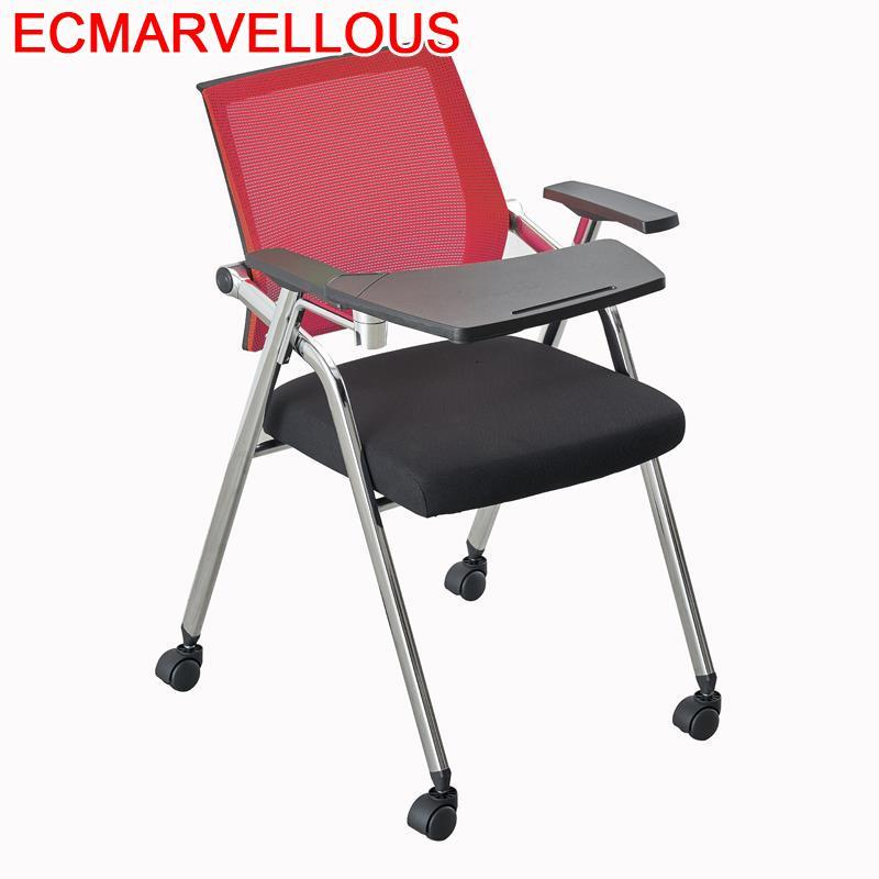 Com Escrita Cadeira Escritorio Executiva Airport Sedie Moderne Pieghevoli Silla De Oficina Folding Office Conference Chair