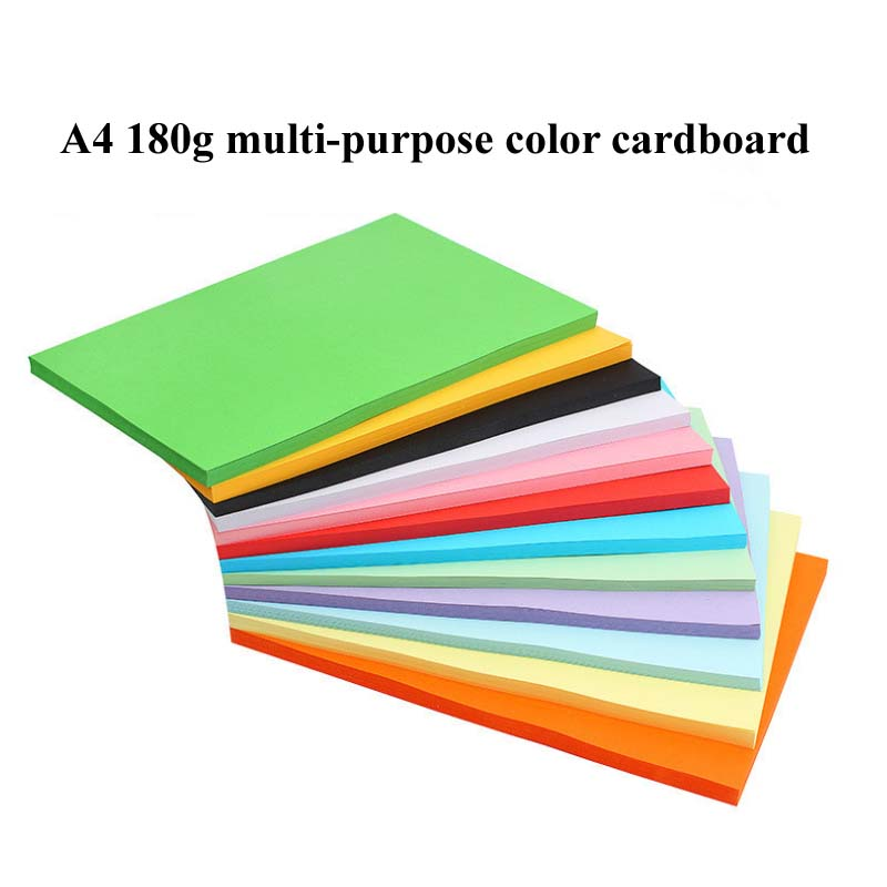 Handmade Color Paper A4 Copy Paper Color Printing Paper 120g 180g A4 Color Paperboard Origami Material A4