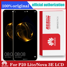Original 5.84 LCDกรอบสำหรับHuawei P20 Lite Nova 3eจอแสดงผลLCD Touch Screen Digitizer Assembly ANE LX1 ANE LX3