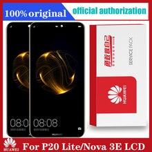 Originele 5.84 Lcd scherm Met Frame Voor Huawei P20 Lite Nova 3e Lcd Touch Screen Digitizer Vergadering ANE LX1 ANE LX3