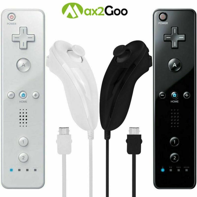 Для Nintend Wii /Wii U 2 в 1 Набор Беспроводной Bluetooth джойстик удаленного синхронизация геймпад для левой руки/нунчаки дополнительный Motion Plus Новый