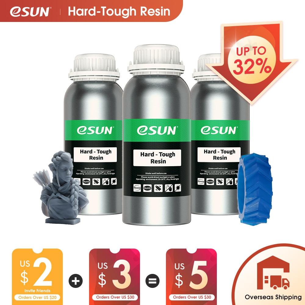 ESUN ЖК-дисплей УФ 405nm АБС похожее на 3D-принтеры смолы жесткий, крепкий смолы для Фотон УФ отверждения ЖК-дисплей 3D-принтеры высокой печати фотополимерные из жидкой резины сaboli 500 г