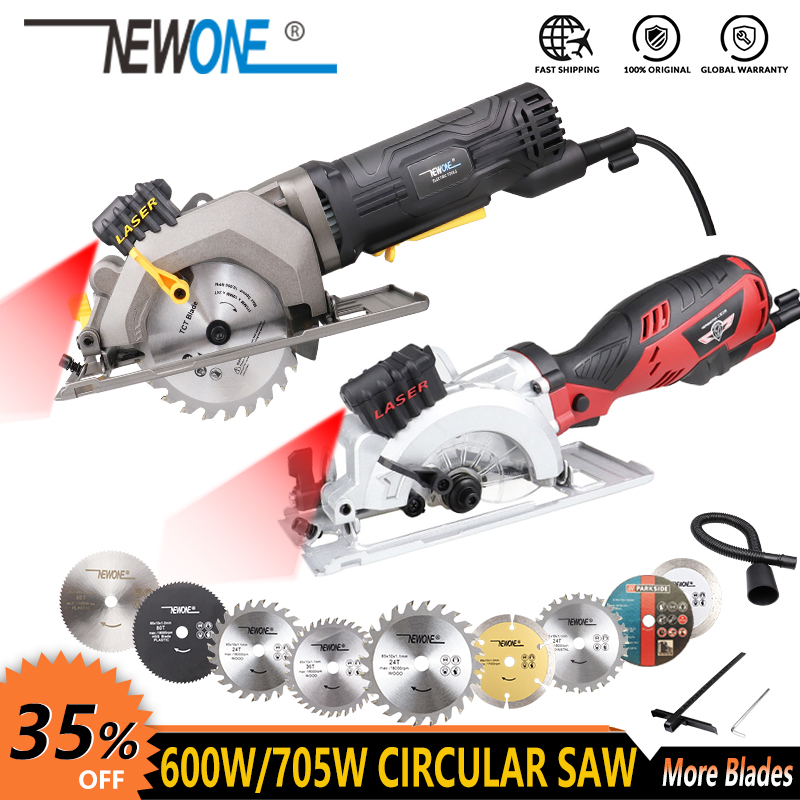 600W Electric Power Tool Electric Mini Circular Saw With Laser  DIY multi function Electric Saw For Cutting Wood PVC Tube  Tile|Electric Saws| |  - title=