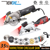 600W Electric Power Tool Electric Mini Circular Saw With Laser, DIY multi function Electric Saw For Cutting Wood,PVC Tube, Tile