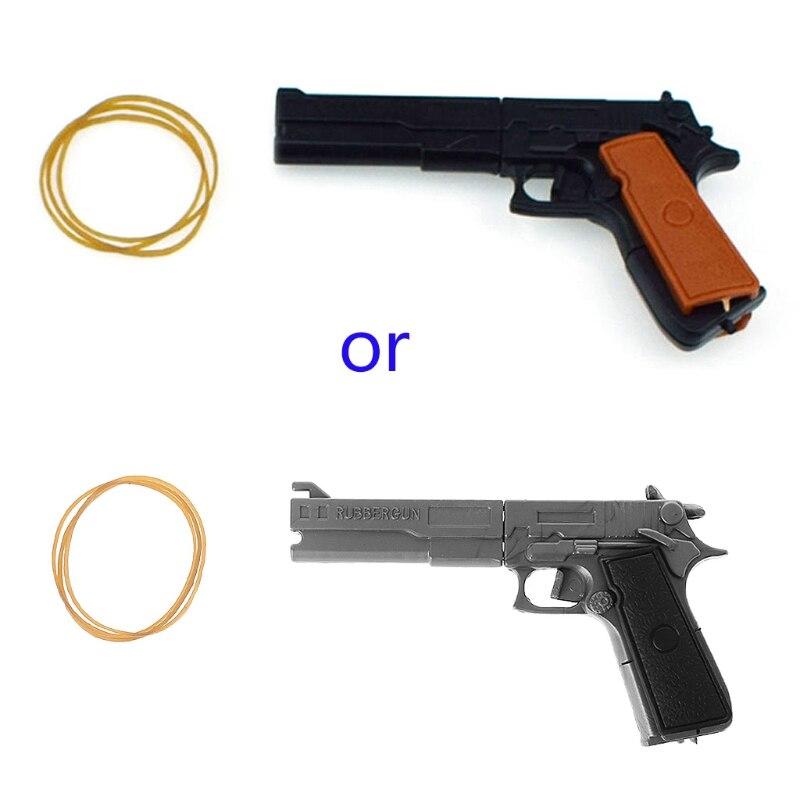 Классический сборка пистолет с резиновой лентой стрелок съемки детей игрушки Портативный Y4QA