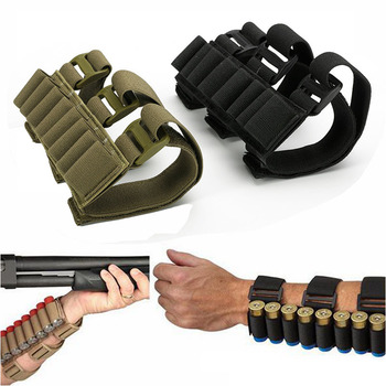 Military 8 Rounds Ammo Bags Shells Reload Arm Band 12 Gauge Bullet Carrier Holder Mag Cartridge Pouch Hunting Accessories 1