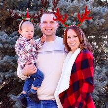 Christmas decoration Adult Kids Headband Reindeer horn hat Baby decor Navidad 2020 New Year Xmas show for home Cosplay