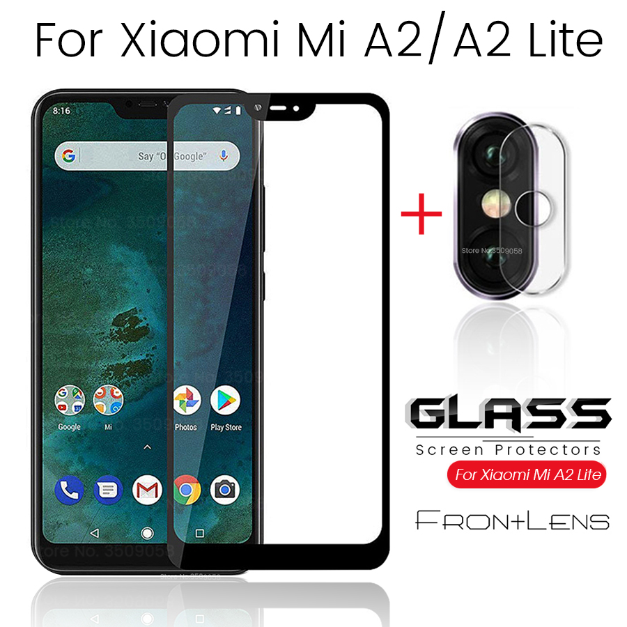 2-in-1 camera protector for <font><b>xiaomi</b></font> mi a2 lite safety <font><b>glasses</b></font> a2lite light <font><b>a3</b></font> sceen tempered <font><b>glass</b></font> on xiomi mia2 mia3 lens film image