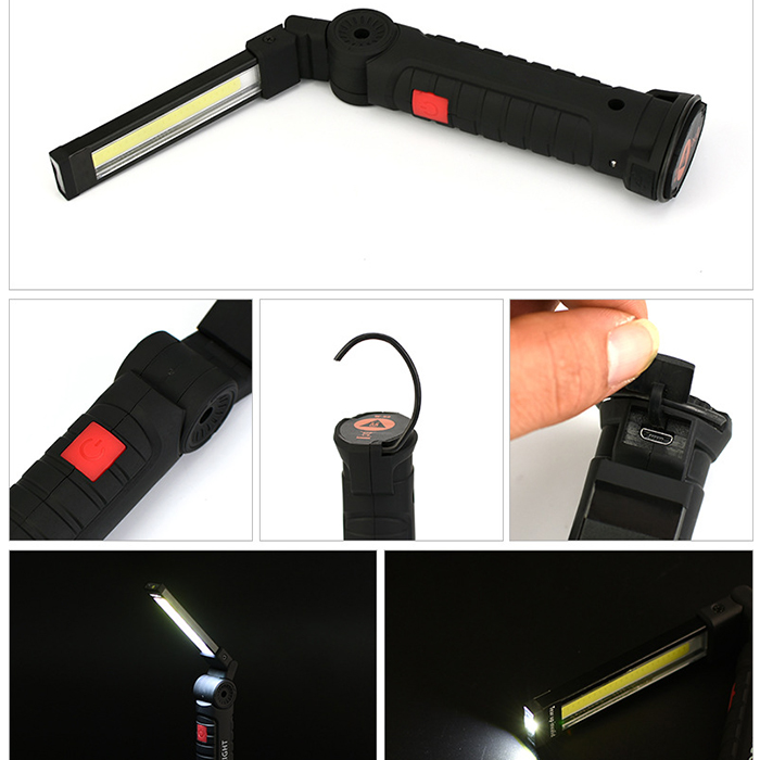 Built-In Battery Rechargeable Portable 5 Mode Cob Work Lights Ultra Bright Led Flashlight Inspection Lamp For Car Repair Z35