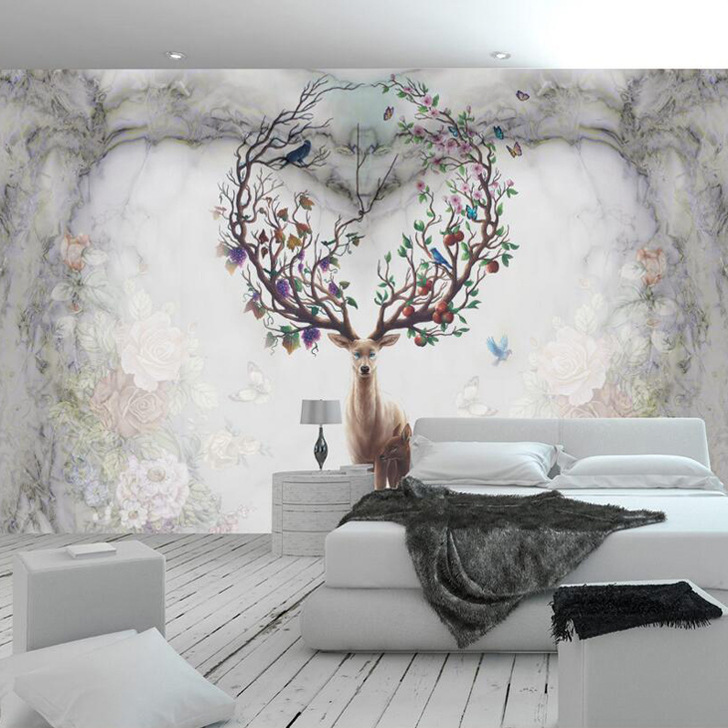 Chinese Style Living Room Office Background Wallpaper Non-woven Wallpaper Modern Hotel Clubs Large Mural Eight Horses Figure