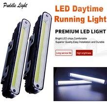 цена на 2pcs COB LED light bar Daytime Running Light DRL Installation Bracket White Light Lamp car accessories