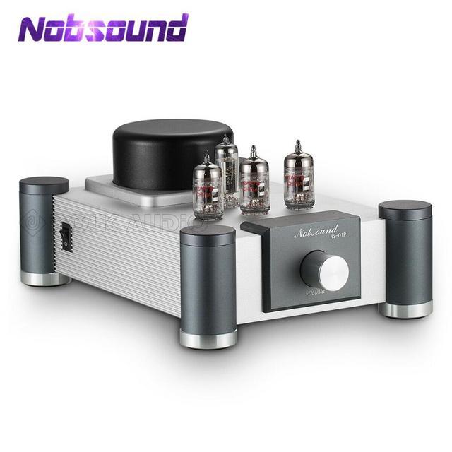 Nobsound válvula y amplificador de tubo de vacío, 12AX7(Tesla/JJECC83), estéreo, Hi Fi, preamplificador de grado audiófilo, Ref Marantz 7