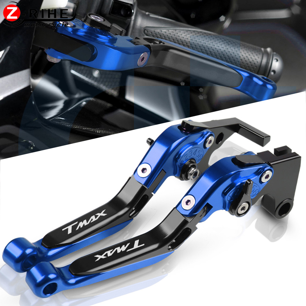 Motorcycle Accessories Adjustable Folding Extendable Brake Clutch Levers For <font><b>YAMAHA</b></font> <font><b>TMAX</b></font> <font><b>500</b></font> <font><b>2001</b></font> 2002 2003 2004 2005 2006 <font><b>2007</b></font> image