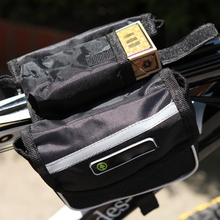 Travel Bag Saddle Bicycle Front Tube Bags Frame Pannier 2 sides Pack Pouch Extensible