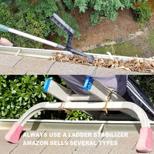 Gutter Cleaning Kit Downspout Screen Debris Scoop Home Garden Roof Cleaner Tool